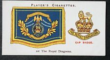 1st The Royal Dragoons   British Cavalry  Vintage Insignia Card # VGC
