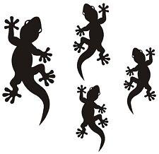 4  Gecko-Aufkleber als Geschenk, Tuning, Wand, Spiegel, Wandtatto, Auto, Bad