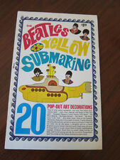 BEATLES Yellow Submarine Pop Out decorations 1960s