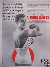 PUBLICITÉ CEINTURE DR GIBAUD PROTÈGE LES HOMMES ACTIFS ET PRÉVOYANTS