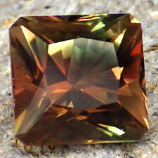 COPPER RED-GREEN DICHROIC OREGON SUNSTONE 6.37Ct VS1-RARE COLORS-PERFECT CUT!!