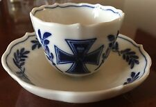 Meissen Military Demi Tasse Cup and Saucer cir 1914