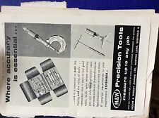 m9-2 ephemera 1955 advert m&w precision tools moore & wright sheffield
