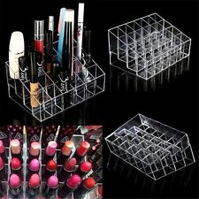 Clear 24 Makeup Cosmetic Lipstick Storage Display Stand Rack Holder Organizer LW