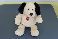 "TARGET Stores for GUND Plush Cream Black Plaid Bow 17"" Stuffed Animal PUPPY Dog"