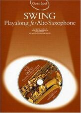 Guest Spot Swing Playalong for Alto Saxophone Book & CD Sheet Music Easy B59 S15