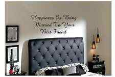Happiness is being married to decal sticker vinyl wall art quotes home decor