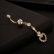 Belly Bar Dangle Reverse luxury Crystal Body Piercing New Belly Bars Navel Rings