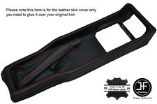 RED STITCH CENTER CONSOLE + HANDBRAKE LEATHER COVERS FITS ALFA ROMEO SPIDER 105