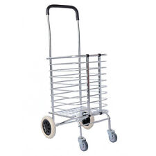 NEW Super Light Aluminum Foldable Shopping Trolley Utility Cart Basket Portable