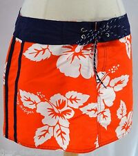 TOMMY HILFIGER Genuine skirted swim bikini bottom tropical Mini Skirt JR M NEW