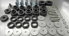NEW JEEP CJ5 BODY MOUNT KIT COMPLETE W/TUBE WASHERS,BUSHINGS & S/S BOLTS '78-'83