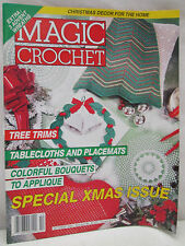Magic Crochet Magazine October 1992 Christmas Issue Decor Patterns Tablecloths