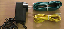 AZTECH SWM11-10090 AC Power Supply Adapter Cord 100-240V & 2 CABLES