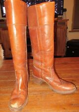 Vintage FRYE Cuffed Tall Campus Riding Boots Brown Leather 8.5 8-1/2