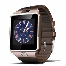 W-09 Quad band Bluetooth Watch Phone Unlock 1.54'Touch Screen cell Phone brown