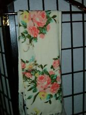 NWT Claire's floral scarf pink roses cream color off white ecru
