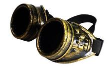 BRASS CYBER GOGGLES STEAMPUNK WELDING GOTH COSPLAY