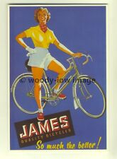 ad3398-James Quality Bicycles, Lady on Bicycle.  Modern Advert Postcards