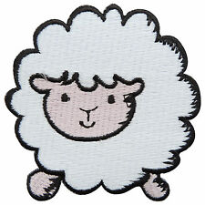 Cute White Sheep Ewe Character Pretty Goat Fun Kids Children Iron-On Patch #A045