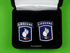 173rd Airborne Brigade Army Cufflinks in Presentation Gift Box