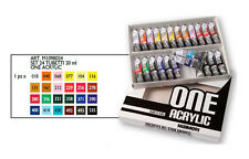 MAIMERI ONE ACRYLIC Set 24 Colori Tempere Acriliche Professionali Tubi da 20 ml