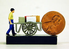 Preiser 1/87 HO Man With Cart SCALE FIGURE AND CART 28036