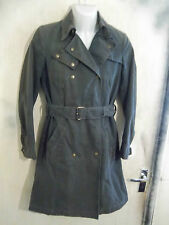 WOMANS BELSTAFF DOUBLE BREASTED MILITARY STYLE TRENCH COAT JACKET SIZE 40 UK8