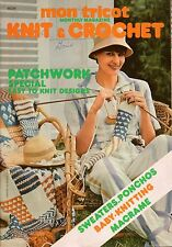 Mon Tricot MD 35 Knit Crochet Patterns Patchwork Afghan Hammock Macrame 1976