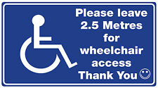 Wheelchair /Disability Car window Sticker (Access Required For WHEELCHAIR )