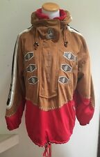Women's Bogner Ski Coat Pullover w Hood Ultra Suede Sz Small Excellent!Gorgeous!
