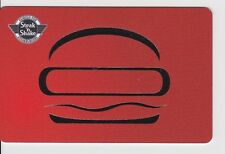 Steak N Shake Red Background Silver Foil Hamburger Famous Gift Card Collectible