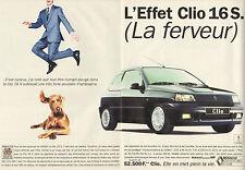 Publicité Advertising 1991 ( Double page )  RENAULT CLIO 16 S