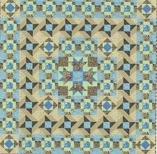 Crystal Sands quilt pattern by Linda J. Hahn of Frog Hollow Designs