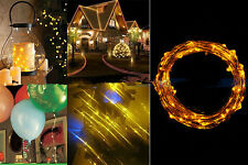 2M 20 LED Yellow String Fairy Lights Indoor/Outdoor Xmas Christmas Party