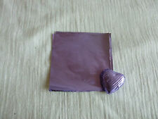 50 Square Foil Wrappers in Lilac for Chocolates & Sweets. 80mm x 80mm.