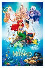 The Little Mermaid 1989 Authentic Original 27x41 Movie Poster DisneyanaShopper