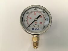 Hydraulic Pressure Gauge 63mm Bottom Entry 0-6000 PSI 400 Bar Gauges GB63400/04