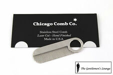 Chicago Comb Co Stainless Steel Model No. 2 Comb with Mirror Finish