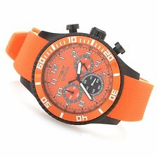 New Mens Invicta 18231 Specialty Chronograph Orange Dial Polyurethane Watch