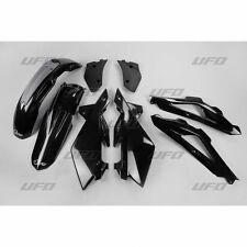 UFO Plast 5 Piece Motocross Plastic Kit Husqvarna CR 125 250 2T 07 - 08 Black