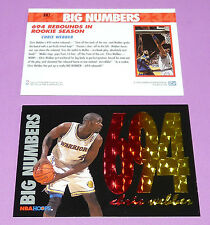 BIG NUMBERS 694 REBOUNDS CHRIS WEBBER WARRIORS SKYBOX 1994 NBA BASKETBALL CARD