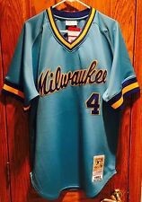 Paul Molitor Authentic Mitchell & Ness 1982 Milwaukee Brewers Jersey Size 48 XL