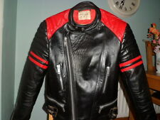Vintage leather biker jacket-MEDIUM-42-FIELDSHEER-RED LINING-CAFE RACER JACKET M