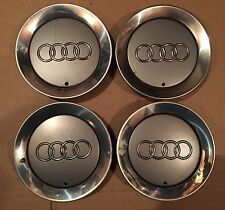 "AUDI A2 2000 2005 16"" ALLOY WHEEL CENTER HUB CAPS SET 8Z0 601 165F 8Z0601165F"