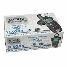 Sekonic L-758D DIGITALMASTE L 758 D Light Meter ~ Brand NEW CE Europe Version