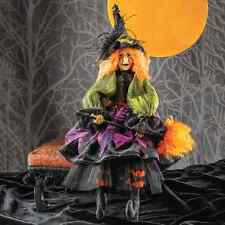 Zelda Witch Doll/Figure-Halloween Collectible Shelf Sitter-Resin Face & Hands