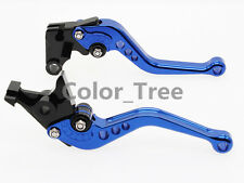 CNC Blue Shorty Clutch Brake Levers For YAMAHA DT125 RE DT125 R 2004-2007 05 06