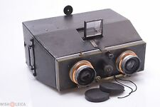 BELLIENI JUMELLE 9X18CM 3D STEREO CAMERA ZEISS 110MM F/8 W/ CAPS & PLATES
