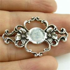14285*10PCS Antique Silver Vintage Plant Flower Pendant Connector Alloy Nice